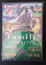 Family Favorites 5 Movie Dvd 2 Disc Set Sealed