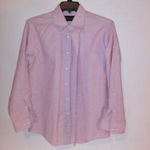 Barrington Mens Button Down Shirt 15.5 32 33 Light Pink Long Sleeve