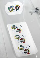 WENKO Wanneneinlage mit Nackenpolster Badewanneneinlage Badeinlage Nackenkissen