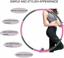 Hoola Hoop for Adults,Weighted Hoola Hoop for Exercise-2lb,8 Section Detachable