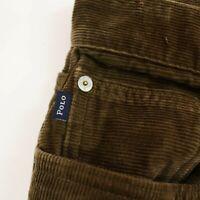 POLO RALPH LAUREN Mens corduroy Pants size 32 stretch straight Brown