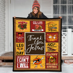 Christian Thankfulness Quote Gift for Women Thank You Jesus.Fleece,Quilt Blanket