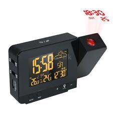 Sveglia a proiezione radiocontrollata digitale LCD multifunzionale con T0P7