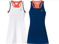 $150 LACOSTE BLUE ORANGE WHITE RACERBACK TENNIS DRESS SIZE 40, US 8