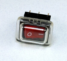 Water Resistant Lighted Rocker Switch with Cover, On/Off, SPST, 15A  @ 125 VAC