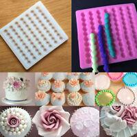 Bead Pearl Chain Fondant Mould Cake Border DIY Decor Sugarcraft Mold Silicone