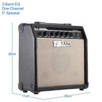 "15W Electric Guitar Amplifier Amp Distortion 3-Band EQ 5"" Speaker L9J5"