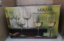 Mikasa Encore Set of 6 Crystal Etched White Wine Glasses - 473.1 ml 16 fl oz
