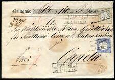 DR 1872 22+20 auf WERTBRIEF RAUDTEN nach OPPELN (J9225