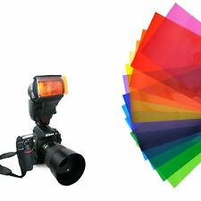 NEW 12 Color Balance Effect Gel Filter Flash Diffuser For Speedlite Camera
