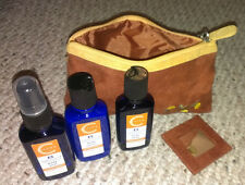 """New ListingBodysource citrus aromatherapy mini gift set in soft """"suede"""" bag with mirror"""