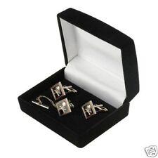 Skull Crossbones Tie Clip & Cuff Link Cufflinks Boxed