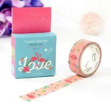 Pink Flamingo Washi Tape Decorative Paper Sticky Adhesive Sticker Craft 5M