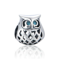 Chic Owl Charm, Elegant SILVER Jewellery, Animal Charms for Bracelet Necklace