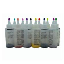 12 Colour Bottle Tie Dye Kit + 40 Rubber Band + 4 Pairs Vinyl Gloves DIY Kit  SP