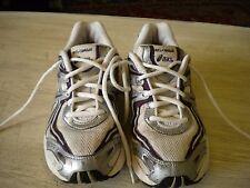 Ladies Asics Gel Cumulus Running Shoes Beige / Purple 6 M