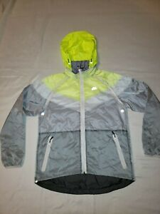 Nike Running Men's Reflective Full Zip Hooded Windbreaker Jacket - Large