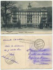 38743 - Interlaken - Hotel Schweizerhof - Ansichtskarte, gelaufen 20.8.1909