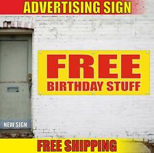 Birthday Stuff Banner Advertising Vinyl Sign Flag service catering restaurant