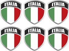 "6 - 2"" Italy Italian Italia ITL Flag Shield Decal Badge Sticker"