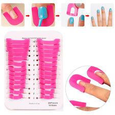 26pcs Finger Case Nail Polish Mold Stencil Tool Shield Protector Case Guard JS
