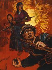 Propagande était Vietnam US Imperialism SOLDIER GRENADE Jungle Canvas Print