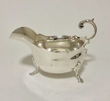 Good Quality Antique Solid Sterling Silver Sauce Boat Gravy Jug Chester 1912