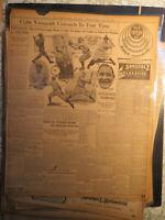 Baseball History Newspaper 1916 CUBS VANQUISH COLONELS FEDERAL LEAGUE GIANTS YAK
