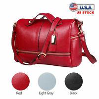 Women Pillow Shape Handbag Leather Rivet Satchel Crossbody Shoulder Bag Zip Tote