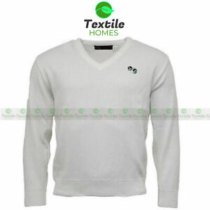 Bowling Bowls Jumper V Neck Sweater Mens Plain Sports Pullover Golf Knitted Top