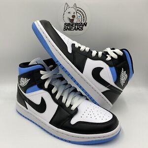 Nike Jordan 1 Mid University Black/White/Blue BQ6472-102   7.5M/9W to 10.5M/12W