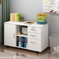 Modern Sideboard 3 Drawer& 1 Door& 2-layers Storage Cupboard Kitchen Cabinet UK
