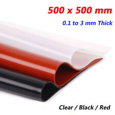 Silicone Rubber Sheet 500 x 500 mm Seal Pad 0.1 to 3 mm Thick Clear Black Red