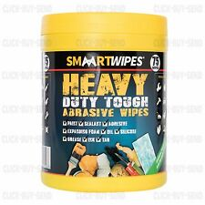 HEAVY DUTY TOUGH ABRASIVE WIPES FOR ALL TRADES PAINT SEALANT TAR INK ADHESIVE