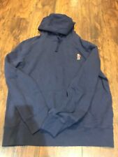 Polo Ralph Lauren Men's Teddy Bear Hoodie Pullover Sweatshirt NWT Navy Blue XL
