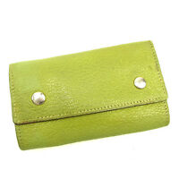 Hermes Key holder Key case Green Silver Woman unisex Authentic Used T109