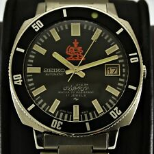 Automatic Seiko 7005 8140 Iranian Royal Army Diver Steel Men Watch