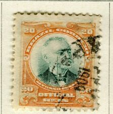 BRAZIL; 1906 early Penna Official issue fine used 20r. value
