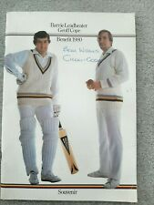 Signed Geoff Cope and Barrie Leadbeater 1980 Benefit Brochure