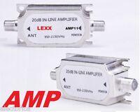 SATELLITE AMPLIFIER SIGNAL HD BOOSTER DISH AMP BELL FTA SHAW NETWORK DIRECTV !!