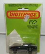 Matchbox Superfast No 62 Chevrolet Corvette SILVER Base Mint Sealed RARE