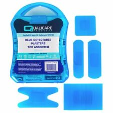 100 X PREMIUM BLUE CATERING KITCHEN PLASTERS FOOD SAFETY HAND/FINGER VISIBILITY