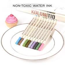 10x Metallic Pencil Set Marker Album Dauber Sketch Water Color Brush Marker Pen