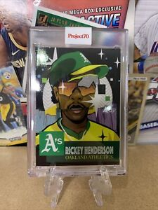 2021 Topps Project 70 Card 26 1953 Rickey Henderson by Pose Athletics ⚾️🔥