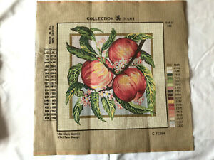"New Tapestry Canvas  APPLES - DMC C11394 - 13.5""x13.5"""