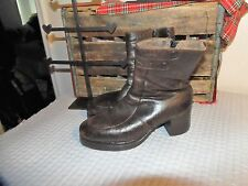 VINTAGE Leather DISCO BOOTS 9.5 D PLATFORM BOOTS 9.5 DISCO BOOTS 9.5