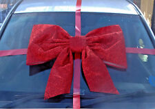 large bow for car Glittery material Handmade with SUPERFAST DISPATCH!!