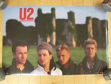 Wow! 1984 vtg U2 band members promo Poster Concert art Music Nos bono the edge