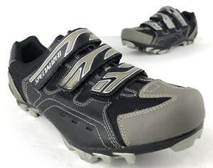 SPECIALIZED 6116-4044 MTB Mountain Bike Shoes Gray Black Men EU 44 US 11 Cycling