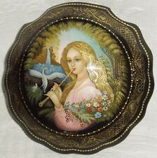 "Russian Lacquer box Palekh "" Music of Soul "" miniature Hand Painted"